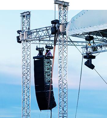 Аренда конструкций для оборудования сцены на концертах