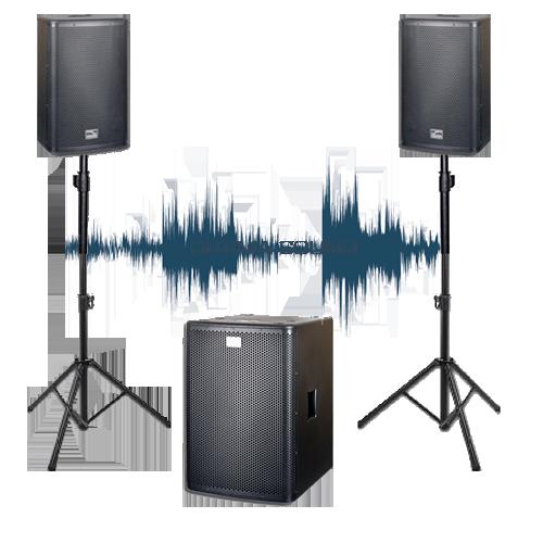 комплект звукового оборудования 2 кВт в аренду